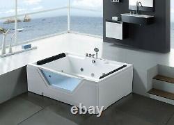 WHIRLPOOL BATH TUB SPA FOR 2 PERSONS HYDROTHERAPY 170 x 120 cm HOT TUB Linda