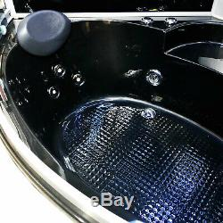 WHIRLPOOL BATH TUB SPA SHOWER Vienna 130 x 130 cm CORNER BLACK BATHTUB HOT TUB