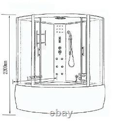 WHIRLPOOL BATH TUB SPA WHIRLPOOL SHOWER 130 x 130 cm HOT TUB Milan