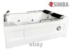 WHIRLPOOL BATH TUB SPA WHITE CORNER BATHTUB 175x132cm HOT TUB 2 PERSONS Lulu