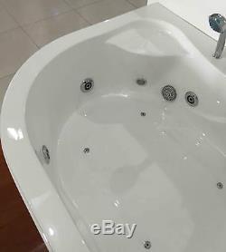 WHIRLPOOL CORNER BATH TUB Mod. Varadero SPA 170 x 115 cm HOT TUB BATHTUB