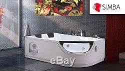 WHIRLPOOL CORNER BATH TUB SPA 180 x 120 cm HOT TUB BATHTUB Model LUNA