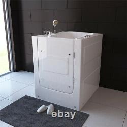 Walk In Bath Tub Whirlpool Spa Elderly Disabled Entry with Seat 900mm Movable