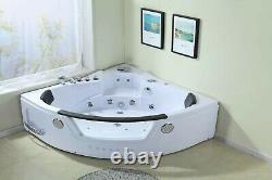Whirlpool 152x152cm Honolulu Jacuzzi Corner Bath Bathtub Spa Pool Hot Tub Indoor