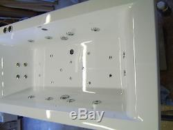 Whirlpool 28 Jet Hydro system CUBE 1700 x 750 Bath & Colour Changing Light