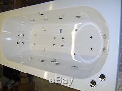 Whirlpool 28 Jet Hydrosystem OCEAN 1800 x 800 Bath & Colour Changing Light