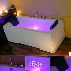 Whirlpool Bath 8 Jacuzzi Massage Jets Shower Double Ended Rectangle Bathtub 1700
