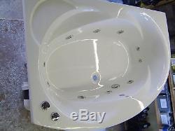 Whirlpool Bath ECLIPSE Offset Corner Bath 1500x1000 with 10 Jet LEFT HAND