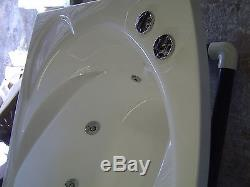 Whirlpool Bath Eclipse Offset Corner 1500x1000 with 10 Jets RIGHT HAND
