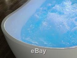 Whirlpool Bath Hot Tub Spa Free Standing Jets White Antigua
