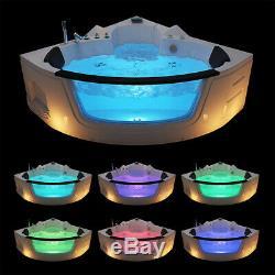 Whirlpool Bath Modern Double End Shower Spa Massage Corner Bathroom