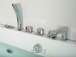 Whirlpool Bath Shower 22 JET Spa Jacuzzi Straight 2 person Double Bathtub 1690mm