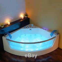 Whirlpool Bath Shower Spa Jacuzzis 17 Massage Jets Corner Double Ended Bathtub