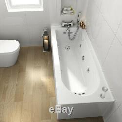 Whirlpool Bath Shower Spa Jacuzzis 9 Massage jets With Waste and Light Bathtub
