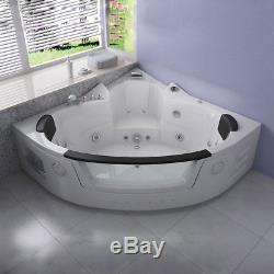 Whirlpool Bathtub 2 person Corner 1350MM Jacuzzis Massage Acrylic BL/WH