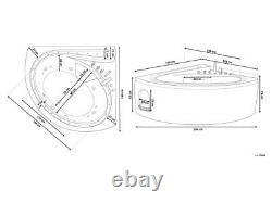 Whirlpool Bathtub Basic With LED Stream Fittings 10 Massage Nozzles Corner Bath