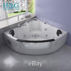 2 person corner hot tub. Whirlpool Corner Bath 2 person Shower Spa Jacuzzi Massage Double Bathtub  HG6155M