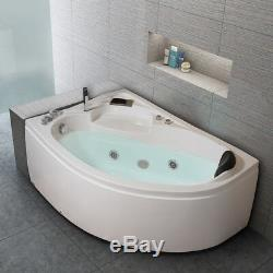 Whirlpool Corner Bath SPA Jacuzzis Massage One Person Left Hand Bathtub 1500mm