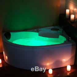 Whirlpool Corner Bath SPA Jacuzzis Massage One Person Right Hand Bathtub 1500mm
