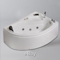 Whirlpool Corner Bath Shower Right Spa Jacuzzi Massage 1 Person Bathtub  1500mm