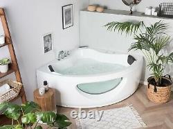 Whirlpool Corner Bath with LED White TOCOA bathroom contemporary multi