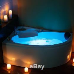 Whirlpool Right & Left Hand Spa Jacuzzis Massage One Person Corner Bathtub
