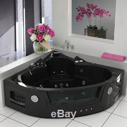 Whirlpool Shower Bath Spa Jacuzzis 14 Massage Jet Corner Double Ended Bathtub