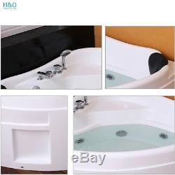 Whirlpool Shower Corner Bath White Acrylic Bathtub 13001300mm Jacuzzis SPA 6143
