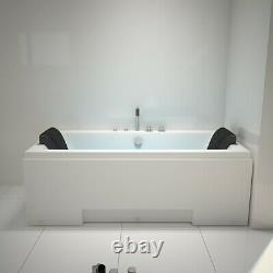 Whirlpool Shower Spa Jacuzzi Massage Jets Corner 2person Bathtub Double Ended