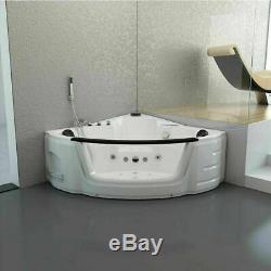 Whirlpool Spa Acrylic Shower Jacuzzis Massage Corner Double Ended Bathtub 1520mm