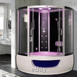 Whirlpool Steam Shower Corner Bath Jacuzzi Cabin Cubicle Enclosure NOHGZM48