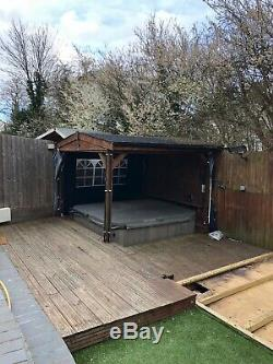 Wooden Gazebo Hot Tub Cover Jacuzzi Shelter Spa Cover £650